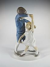 Old Royal Copenhagen porcelain statue