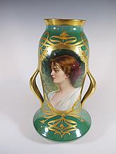 Antique German Dresden porcelain vase