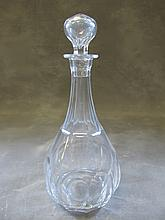 Val St Lambert crystal decanter, signed