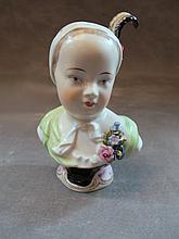 Antique German Dresden porcelain bust