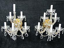 Pair of Venetian style glass sconces