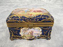 Antique French Sevres bronze & porcelain box