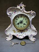 Antique French Marti porcelain clock