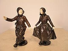 Paul D'AIRE (act.1890-1910) pair of bronze statues