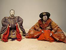 Antique pair of Japanese Ningyo dolls