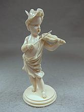 19th C European ivory child playing