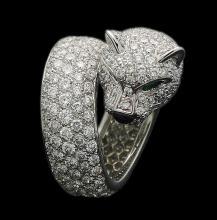 PLATINUM  CARTIER DIAMOND PANTHER RING