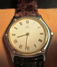 EBEL SWISS WATCH WITH LEATHER BAND