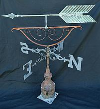 Antique Copper Arrow weathervane with Directional