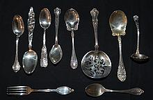 Group Of Antique and Victorian Sterling Unique Flatware