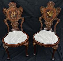 4 Piece French Signed / Painted Parlor Seating Set