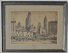 Signed Ernest David Roth New York City Etching