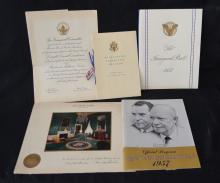 Dwight D. Eisenhower Inauguration & Autograph Lot
