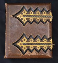 Early Leather Bound Photo Album Book (Travel & Family)