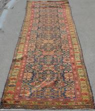 Large Antique Oriental Carpet Runner