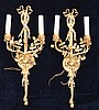 Large Classical Gold Gilt Sconces