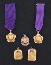 Vintage 10k Gold Medals & Pendants