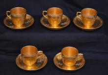 KPM Berlin Scepter Mark Porcelain Cups & Saucers