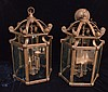 Pr of Substantial Bronze Hanging Fixtures