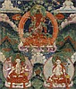 A GROUP OF FOUR THANGKAS