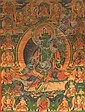A THANGKA OF THE GREEN TARA - SHYAMA TARA