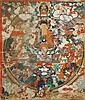 A THANGKA DEPICTING THE PARADISIACAL REALM OF SUKHAVATI