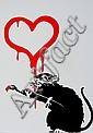 BANKSY (UK), Decorative Offset Lithograph, Title:  Love Rat