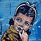 DAVID BROMLEY (1960 - ), Original Acrylic Painting on Linen, Title:  Young Girl, Signed Lower Left