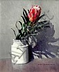 ALAN McKENZIE (AUS), Original Oil Painting on Board, Title:  Waratah, Signed Lower Right