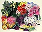 Original Watercolour Painting, 1999, Title:  Mixed Bunch, Signed Lower Right, Dated Lower Right