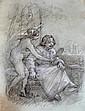 Louis Béroud:  Étude n° 1 pour le personnage d'Honoré de Balzac