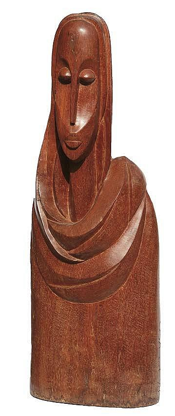 BEN OSAWE (1931-2007) UNTITLED 1998 Wood 93 cm.