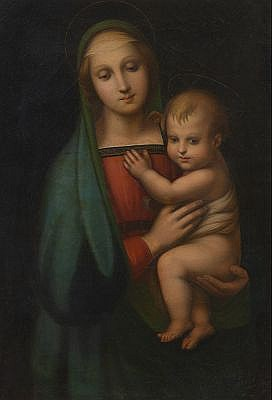 "Italian School (ca. 18th Century) After Raphael's ""Madonna del Granduca"""