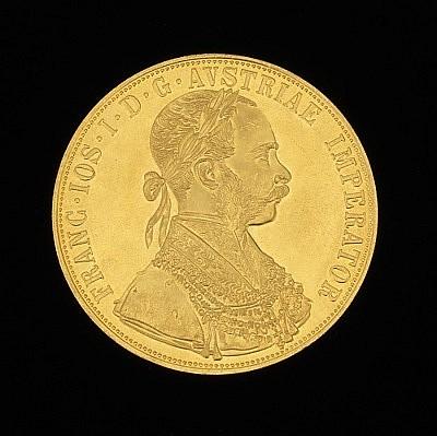 A 1915 Franz Joseph Austrian 4 Ducat Gold Coin