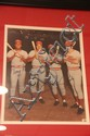Banner/Photo/Signed. Pete Rose, Johnny Bench, & Tony Perez & Joe Morgan