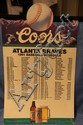 Coors Beer - 1991 Braves Advertising Schedule