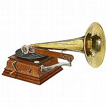 His Master's Voice Horn Gramophone, c. 1905