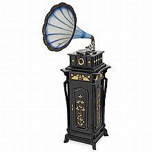 Horn Gramophone on Melba De Luxe Pedestal, c. 1905