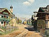 Maximilian Erler (1888-1958), Village near Kitzbuhel, c. 1920