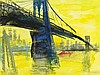 "Rainer Fetting (b. 1949), Mixed Media, ""Brooklyn Bridge"