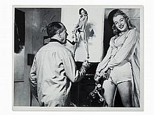 Press Photo, Earl Moran Painting Marilyn Monroe, USA, 1946