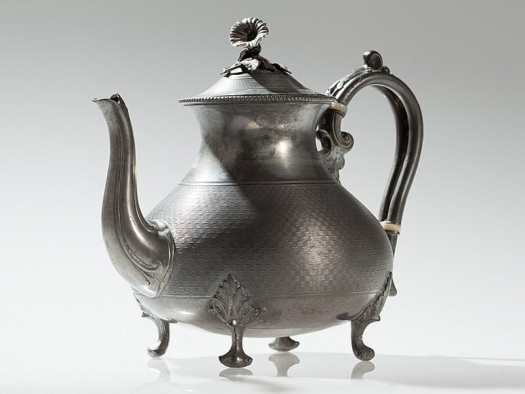 Pewter teapot, James Dixon & Sons, England 19th Century