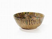 Buff Ware Bowl with Capricorn, Persia (Nishapur), 10th C.
