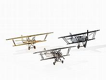 Three Large Models of Biplanes, Germany, 1930s