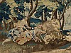 Flemish Tapestry, Large Verdure with Hunting Scene, late 17th C