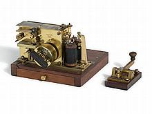 C. F. Lewert, Morse Telegraph with Morse Key, Germany, 1880