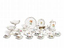 Meissen Coffee Set with Flower Décor for 8 people, 1924-45