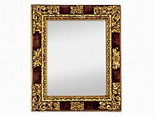 Mirror in Baroque Style, Carved & Partly Gilt, Spain, 19th C
