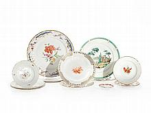 Compilation with 13 porcelain plates by KPM & Meissen, 20th C