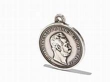 Silver Medal of Tsar Alexander II, Petersburg 1870-1881